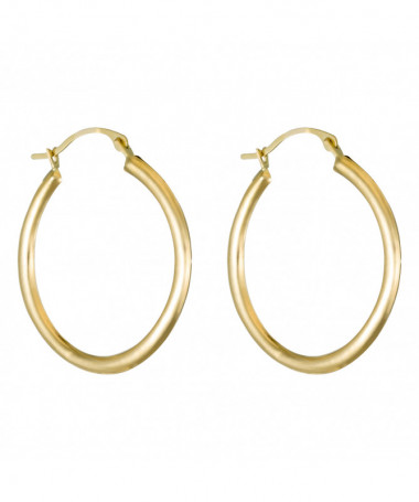 Boucle D'Oreilles  pure Pearl Perle Blanche Or Jaune 375/1000