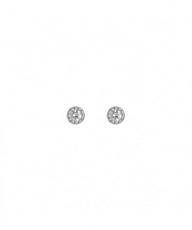Boucle D'Oreilles  world Perle Blanche Or Jaune 375/1000