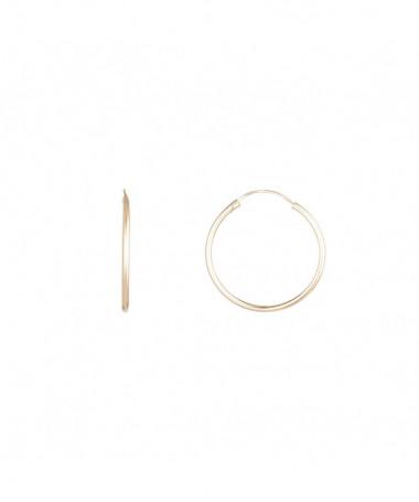 """Boucles D'Oreilles  Créoles Simplicité"""" 12 mm"""" Or Jaune 375/1000"""""""
