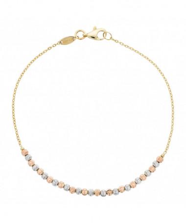 Bracelet  bracelet Barrette Or Rose 375/1000