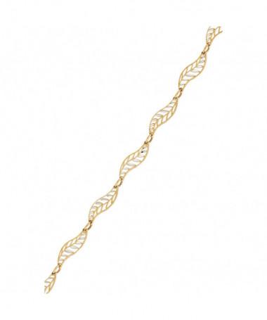 Bracelet  bracelet Petits Ronds Or Bicolore 375/1000