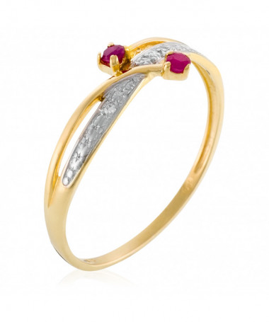 Bague  Intuition Or Blanc 375/1000