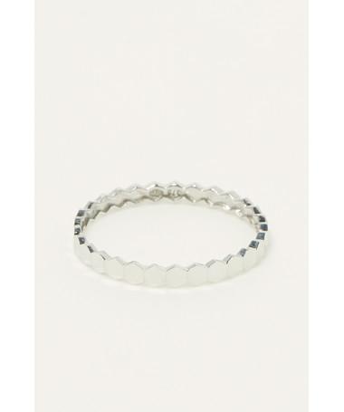 "Bracelet Maille Infinie ovalisé"" Or Jaune"""