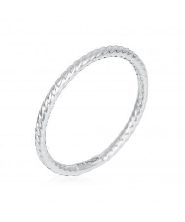"""Bracelet Rond parfait"""" Or Jaune et Oxyde de Zirconium"""""""