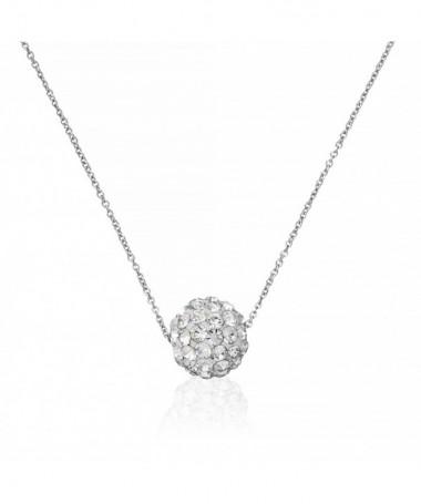 Boucle D'Oreilles  bulles De Crystal Or Jaune 375/1000