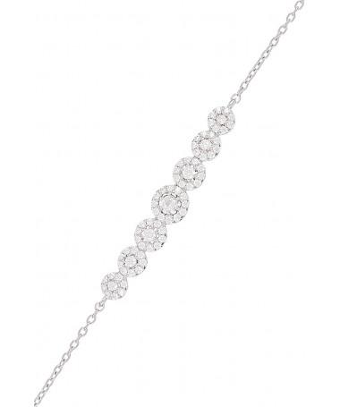 "Bracelet ""Diadème"" Or Blanc 375/1000"